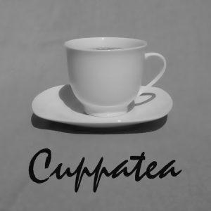 Logo Tasse Cuppatea schwarzweiß